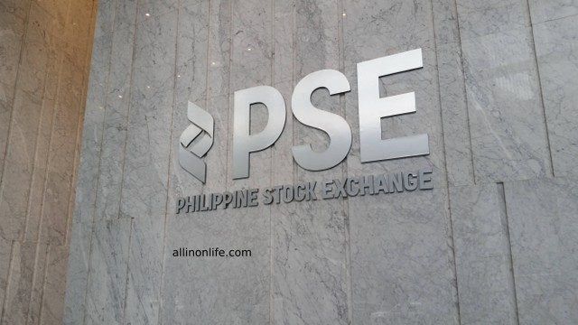 Philippine Stock Exchange sign.